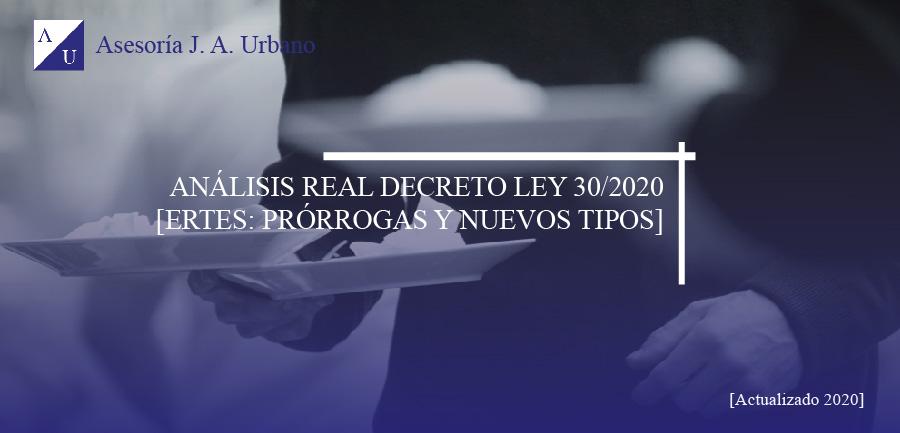 Análisis real decreto ley 30/2020 sobre ertes
