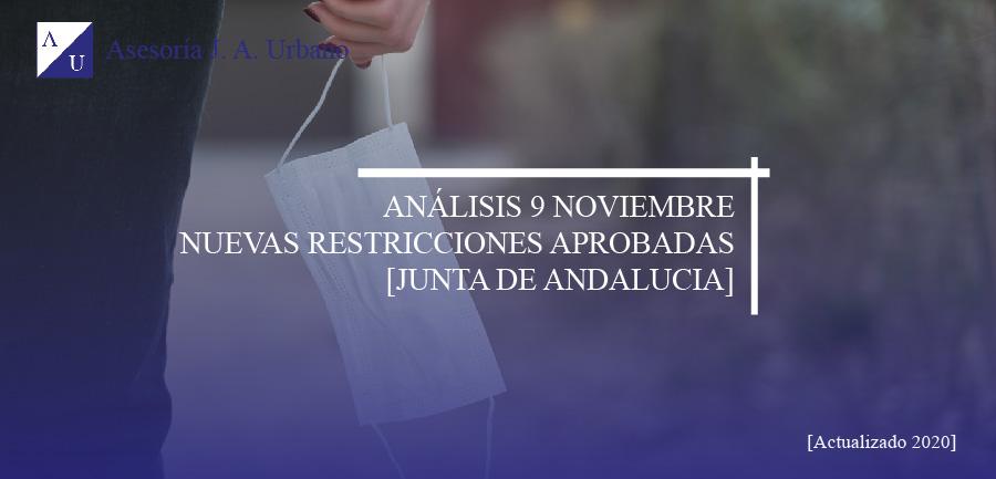 nuevas restricciones junta de andalucia 9 noviembre